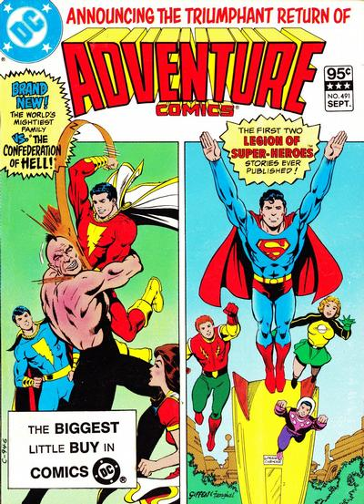 Cover for Adventure Comics (DC, 1938 series) #491 [Newsstand]