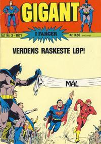 Cover Thumbnail for Gigant (Illustrerte Klassikere / Williams Forlag, 1969 series) #3/1971