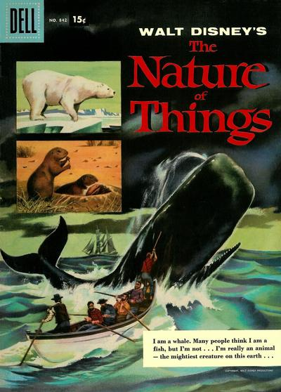 Cover for Four Color (Dell, 1942 series) #842 - Walt Disney's The Nature of Things [10¢]