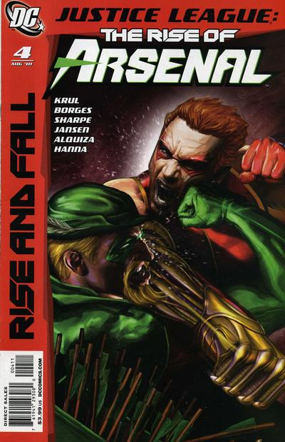 Cover for Justice League: The Rise of Arsenal (DC, 2010 series) #4