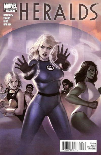 Cover for Heralds (Marvel, 2010 series) #4