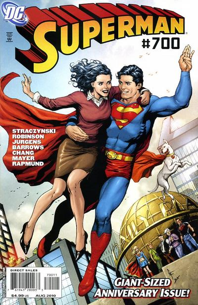 Cover for Superman (DC, 2006 series) #700 [75th Anniversary Variant Cover]