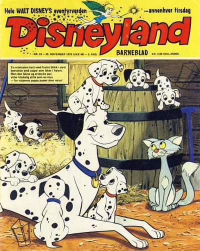 Cover for Disneyland barneblad (Hjemmet / Egmont, 1973 series) #24/1975
