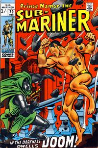 Cover Thumbnail for Sub-Mariner (Marvel, 1968 series) #20 [British price variant]