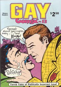 Cover Thumbnail for Gay Comix (Bob Ross, 1985 series) #13