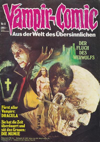 Cover for Vampir-Comic (Pabel Verlag, 1974 series) #6