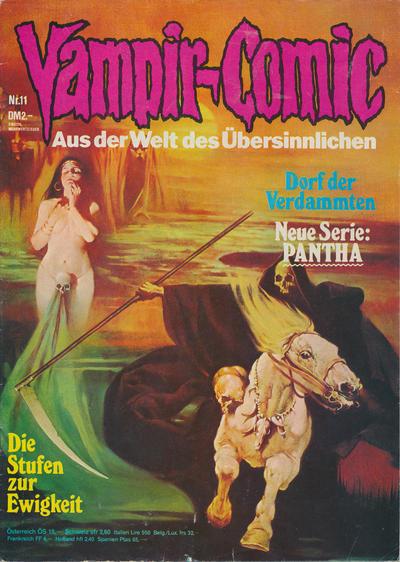 Cover for Vampir-Comic (Pabel Verlag, 1974 series) #11