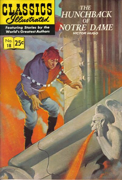 Cover for Classics Illustrated (Gilberton, 1947 series) #18 [HRN 158] - The Hunchback of Notre Dame [2nd Painted Cover-New Art]