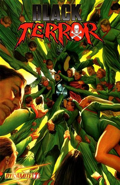 Cover for Black Terror (Dynamite Entertainment, 2008 series) #7 [Negative Art Incentive Cover]