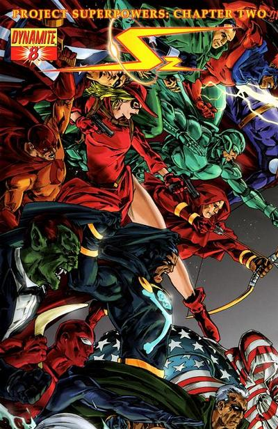 Cover for Project Superpowers: Chapter Two (Dynamite Entertainment, 2009 series) #8 [Jonathan Lau Cover]