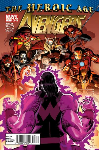 Cover for Avengers (Marvel, 2010 series) #2 [2nd Printing Variant]