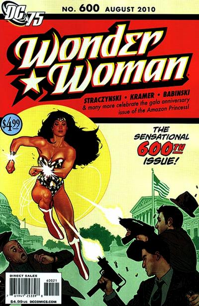 Cover for Wonder Woman (DC, 2006 series) #600 [2nd Printing]