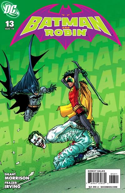 Cover for Batman and Robin (DC, 2009 series) #13 [Frazer Irving Variant Cover]