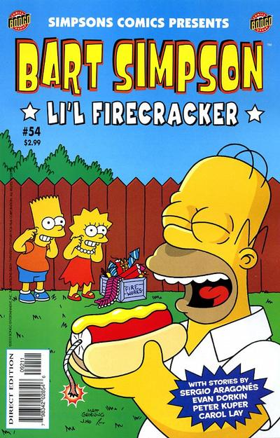 Cover for Simpsons Comics Presents Bart Simpson (Bongo, 2000 series) #54