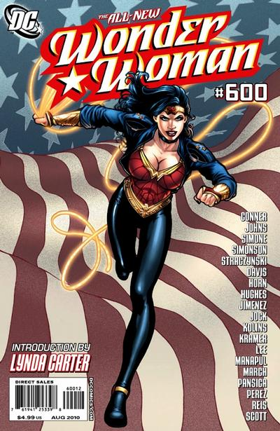 Cover for Wonder Woman (DC, 2006 series) #600 [Adam Hughes Variant]