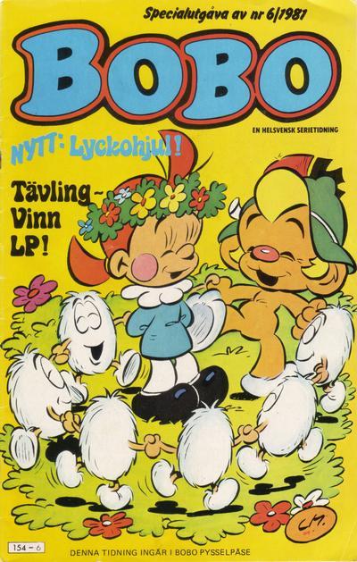 Cover for Bobo (Semic, 1978 series) #6/1981