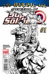 Cover Thumbnail for Steve Rogers: Super-Soldier (2010 series) #1 [Black-and-White Variant Edition]