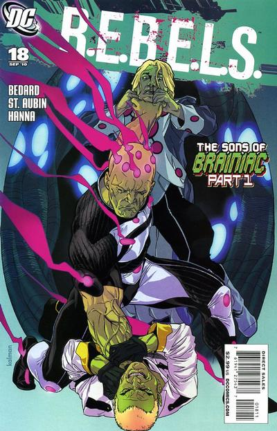 Cover for R.E.B.E.L.S. (DC, 2009 series) #18
