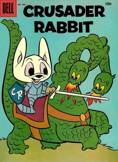 Cover for Four Color (Dell, 1942 series) #805 - Crusader Rabbit [10¢]
