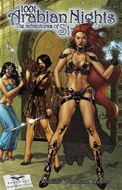 Cover for 1001 Arabian Nights: The Adventures of Sinbad (Zenescope Entertainment, 2008 series) #2 [Eric Basaldua Cover]