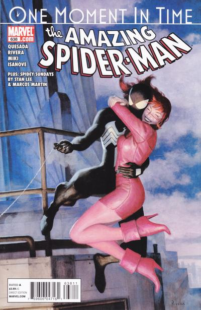 Cover for The Amazing Spider-Man (Marvel, 1999 series) #638 [Quesada Variant Edition]