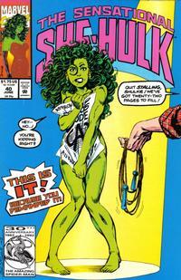 Cover Thumbnail for The Sensational She-Hulk (Marvel, 1989 series) #40 [direct]