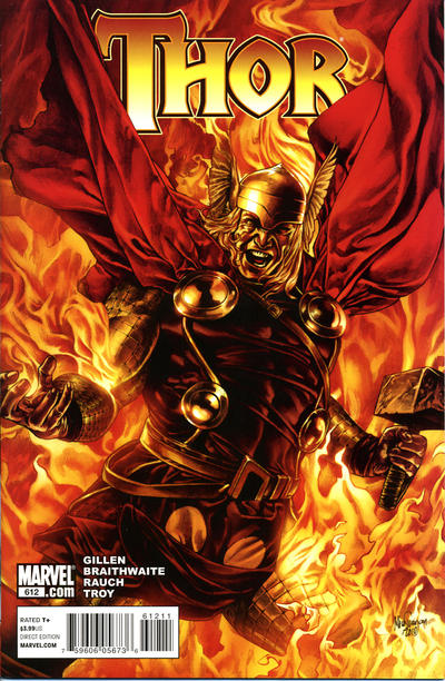 Cover for Thor (Marvel, 2007 series) #612