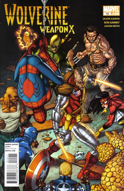 Cover for Wolverine Weapon X (Marvel, 2009 series) #15