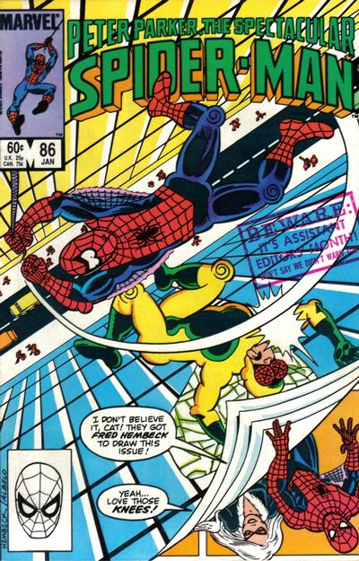Cover for The Spectacular Spider-Man (Marvel, 1976 series) #86 [Direct Edition]