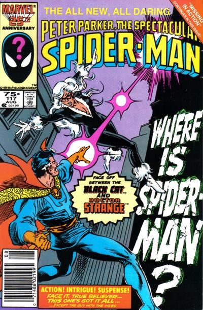 Cover for The Spectacular Spider-Man (Marvel, 1976 series) #117 [Newsstand]