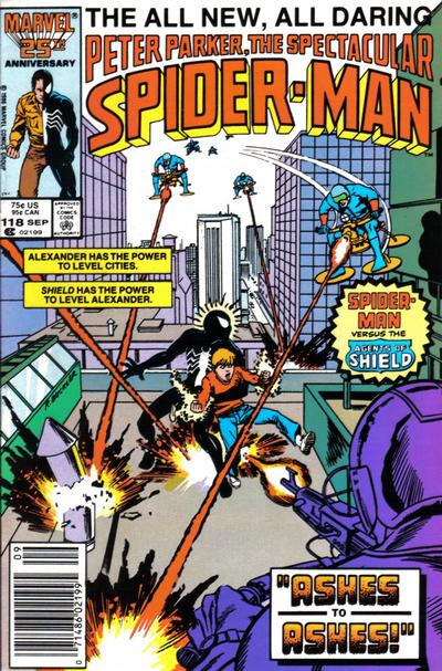 Cover for The Spectacular Spider-Man (Marvel, 1976 series) #118 [newsstand]