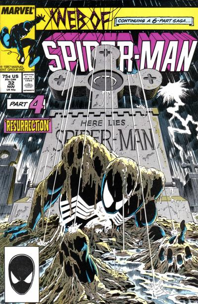 Cover for Web of Spider-Man (Marvel, 1985 series) #32 [Direct]