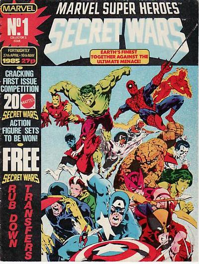 Cover for Marvel Super Heroes Secret Wars (Marvel UK, 1985 series) #1