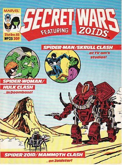 Cover for Marvel Super Heroes Secret Wars (Marvel UK, 1985 series) #25