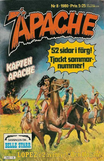 Cover for Apache (Semic, 1980 series) #8/1980