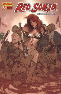 Cover Thumbnail for Red Sonja (Dynamite Entertainment, 2005 series) #8 [Adam Hughes Cover]