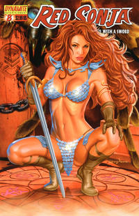 Cover Thumbnail for Red Sonja (Dynamite Entertainment, 2005 series) #8 [Greg Horn Cover]