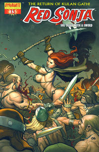 Cover Thumbnail for Red Sonja (Dynamite Entertainment, 2005 series) #13 [Frank Cho Wraparound Cover]