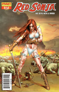 Cover Thumbnail for Red Sonja (Dynamite Entertainment, 2005 series) #17 [Mike Mayhew Cover]