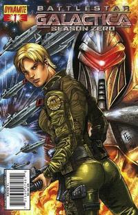 Cover Thumbnail for Battlestar Galactica: Season Zero (Dynamite Entertainment, 2007 series) #1 [Adriano Batista Cover]