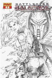 Cover Thumbnail for Battlestar Galactica: Season Zero (Dynamite Entertainment, 2007 series) #1 [Black-and-White Sketch Incentive Cover]