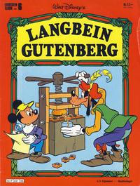 Cover Thumbnail for Langbein album (Hjemmet / Egmont, 1977 series) #6 - Langbein Gutenberg
