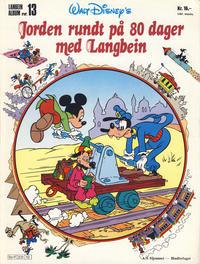 Cover Thumbnail for Langbein album (Hjemmet / Egmont, 1977 series) #13 - Jorden rundt på 80 dager med Langbein