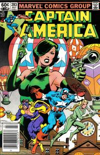 Cover Thumbnail for Captain America (Marvel, 1968 series) #283 [Newsstand Edition]