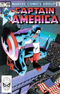 Cover for Captain America (Marvel, 1968 series) #284 [Direct Edition]