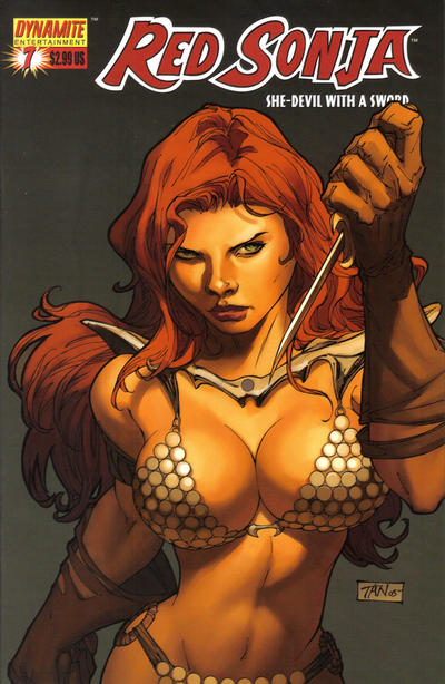 Cover for Red Sonja (Dynamite Entertainment, 2005 series) #7 [Adam Hughes Cover]
