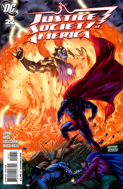 Cover for Justice Society of America (DC, 2007 series) #22 [Dale Eaglesham Cover]