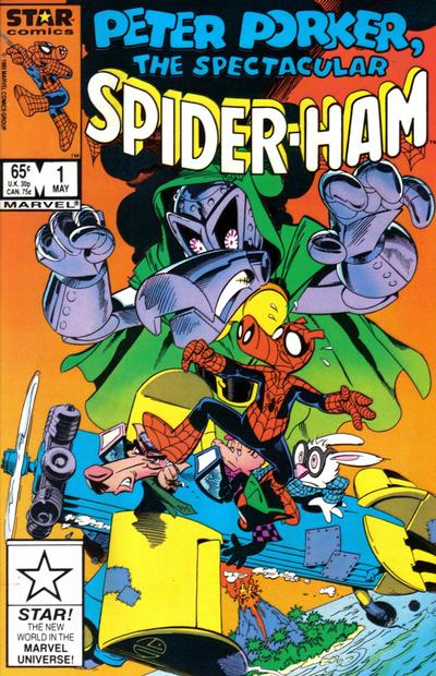 Cover for Peter Porker, the Spectacular Spider-Ham (Marvel, 1985 series) #1 [newsstand]