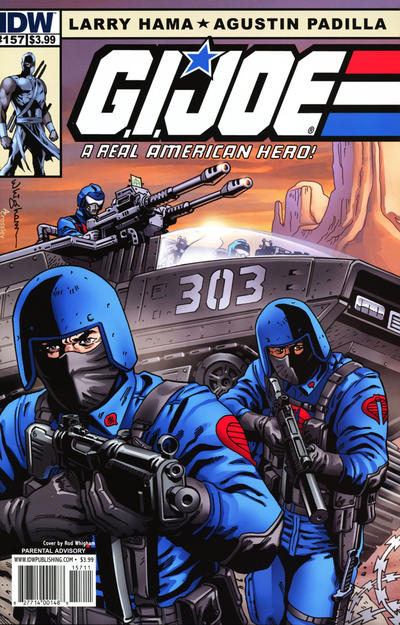Cover for G.I. Joe: A Real American Hero (IDW, 2010 series) #157 [Cover A]