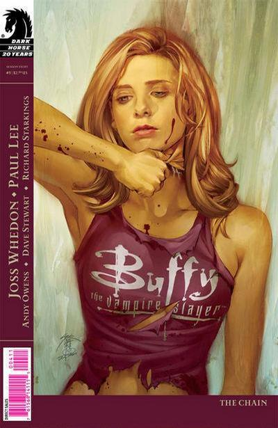 Cover for Buffy the Vampire Slayer Season Eight (Dark Horse, 2007 series) #5 [Paul Lee Cover]